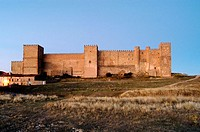 Sig&#252;enza castle. Guadalajara, Castilla-La Mancha, Spain