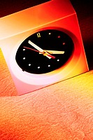 Studio shot of an alarm clock