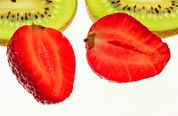 Strawberries and kiwi fruit