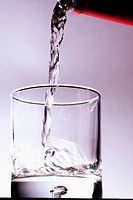 Water being poured into a glass