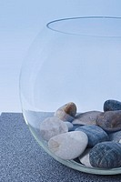 Glass filled with stones