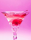 Red cherry in alcoholic drinks