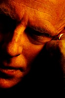 Close-up picture of a businessman thinking (thumbnail)