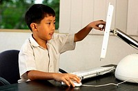 Boy using computer