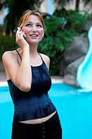 Woman talking on the mobile phone