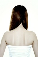 woman`s back view