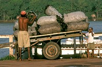 Charcoal-on-Cart,-Abaetetuba,-Para,-Amazon-Estuary,-Brazil