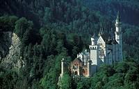 Neuschwanstein-Castle,-Bavaria,-Germany