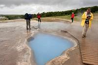 Geothermal-Pool,-Geysir,-Iceland