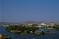 Island-in-the-Sun,-Nile-River,-Aswan,-Egypt