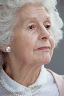 Elderly woman, close-up, portrait