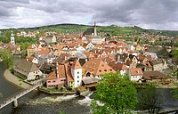 Town. Cesky Krumlov. Czech Republic. Central Europe