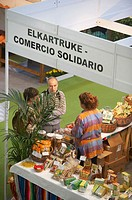 Ecological food. Bioterra, fair of organic products, ecological management and the environment, FICOBA, Basque Coast International Fair. Irun, Gipuzko...