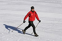Nordic Walking, winter, woman, walking, running, floors, sticks, leisure sport, winter sports, sports, snow