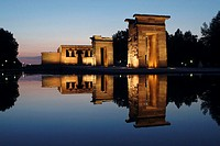 Egyptian temple of Debod (2nd century b.C.), Madrid. Spain
