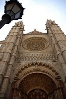 High Section of Gothic Architecture of Palma Cathedral, Mallorca