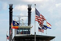 Flags on a ship