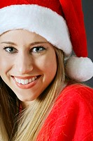 Woman wearing santa suit