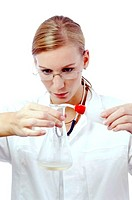 Female doctor working in the lab