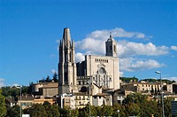 Church of Sant Feliu and cathedral. Girona. Spain