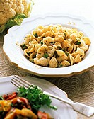 Orecchiette with Cauliflower in a Bowl