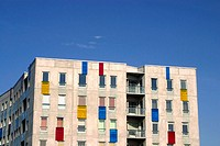 Colorful building at Tallinn harbour