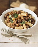 Penne with pork ragout
