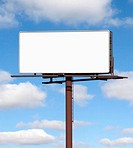 Blank billboard against blue sky (Digital Composite)