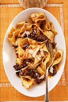 Pappardelle with meat ragout with Barolo & Parmesan shavings (thumbnail)