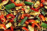 Roasted vegetables filling the picture