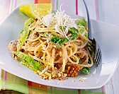 Spaghetti with savoy and walnut sauce