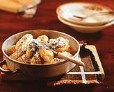 Skubanky (Czech potato & quark dumplings with poppy seeds)