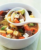 Potato stew with ox breast