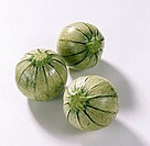 Three rondini (similar to courgettes, but not edible raw)