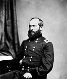 Major General James Abram Garfield (1831-1881), twentieth President of the United States, and the second U.S. President to be assassinated.