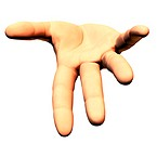 Hands images by computer graphics (thumbnail)