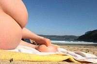 Nudist beach. Galicia, Spain