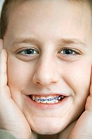 Boy with Braces on Teeth