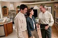 Couple with salesman in home improvement store