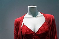 Thailand, Pattaya, Royal Garden Plaza, Headless female mannequin wearing red dress