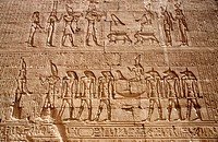 High Relief. Edfu Temple. Upper Egypt. Egypt