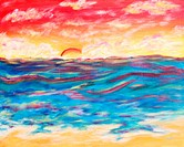 'Santa Monica Sunset' 16x20' Acrylic on canvas. 2003. Private collection