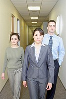 Businesspeople walking in the hallway, Redwood City, California, United States,