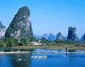 Typical Scenery / Limestone Mountains & River, Guilin / Yangshou, Guangxi Province, China