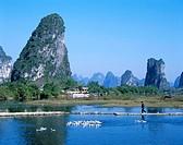 Typical Scenery / Limestone Mountains & River, Guilin / Yangshou, Guangxi Province, China