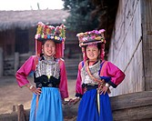 Hill Tribe People / Lisu Tribe Women, Chiang Mai, Golden Triangle, Thailand