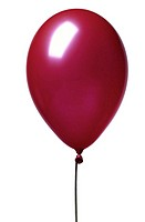 close-up of a red balloon