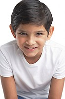 Boy looking at camera, head shot