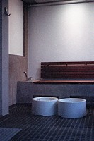 Water tub, tubs, basin, basins, bowl, bowls in a sauna, spa for a footbath, bathing the feet (thumbnail)