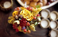 A dried flowers bouquet